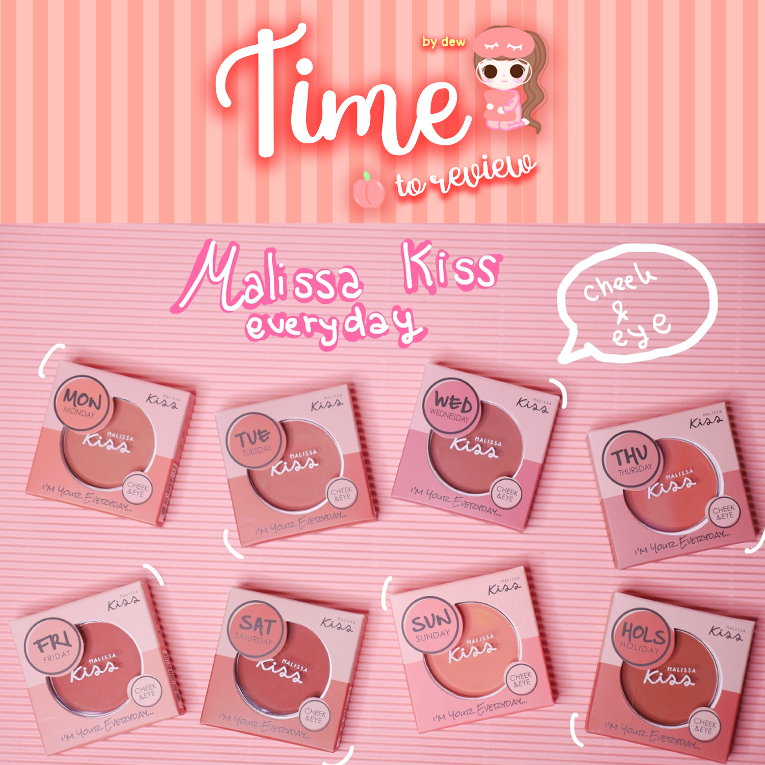 [Review] Malissa Kiss Everyday Cheek & Eyes Blush